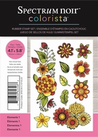 Spectrum Noir Colorista A6 Rubber Stamp - Elements 1