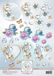 3D Knipvel Ann's Paper Art APA3D013 Frosted Florals