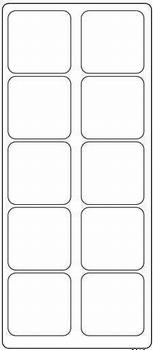 Stickervel 0643 Vierkant met afgeronde hoekjes