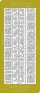 Stickervel Starform Outline 1033 Hoeken en Randen