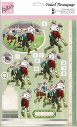 A4 Stansvel Foiled Decoupage ANT169432 Rugby