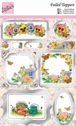 A4 Stansvel Foiled Decoupage ANT157405 Spring Borders
