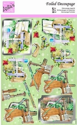 A4 Stansvel Foiled Decoupage ANT169482 Gardening