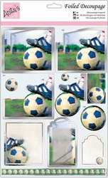 A4 Stansvel Foiled Decoupage ANT169438 Football