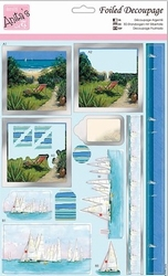 A4 Stansvel Foiled Decoupage ANT169436 Sail Away