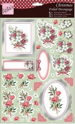 A4 Stansvel Foiled Decoupage ANT169474 Berry Flowers