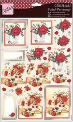 A4 Stansvel Foiled Decoupage ANT169477 Festive Roses