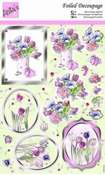 A4 Stansvel Foiled Decoupage ANT169485 Tulips