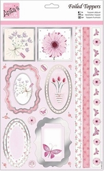 A4 Stansvel Foiled Decoupage ANT157408 Pink Gerbera
