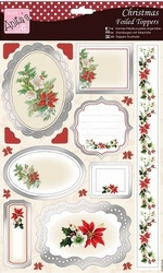 A4 Stansvel Foiled Decoupage ANT157423 Seasonal Bouquet