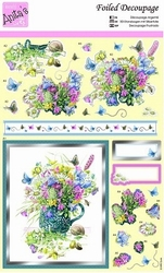 A4 Stansvel Foiled Decoupage ANT169483 Easter Bouquet