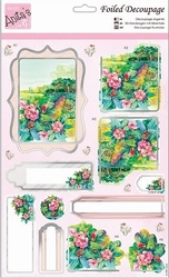 A4 Stansvel Foiled Decoupage ANT169444 Flower Garden