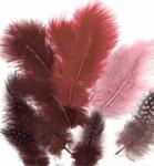 Veren Marabou & Guinea Fowl mix 12229-2909 Wine