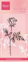 MD Clear stamps TC0846 Tiny's Single rose