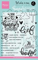 MD Clear Stamp Karin Joan KJ1703 Hartjes regen