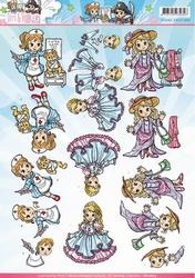 3D Knipvel Yvonne CD10827 Tots and Toddlers Meisjes verklede