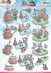 3D Knipvel Yvonne CD10825 Tots and Toddler Verjaardag