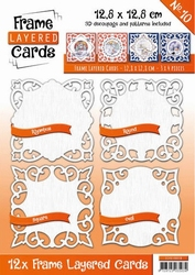 Linnen Layered Frame Cards LC4K10010/- 4kant