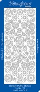 Stickervel Starform Outline 1113 Bloemetjes/blaadjes