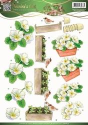 3D Knipvel Jeanines Art 10834 Garden Classics White Flowers