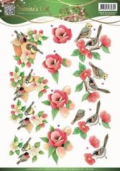 3D Knipvel Jeanines Art 10837 Garden Classics Birds