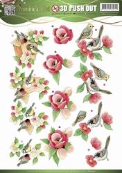 3D Pushout Jeanines Art 10147 Garden Classics Birds
