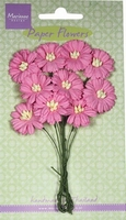 MD Paper Flowers RB2252 Daisies - bright pink/roze