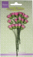 MD Paper Flowers RB2240 Roses bud - bright pink/roze