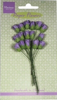 MD Paper Flowers RB2243 Roses bud - dark lavender/lavendel