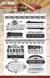 Amy Design Clearstamp ADCS10013 Vintage Vehicles