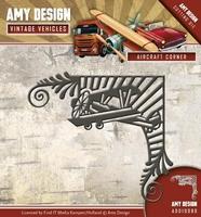 Amy Design Die Vintage Vehicles ADD10098 Aircraft Corner