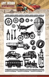 Amy Design Clearstamp ADCS10014 Vintage Vehicles