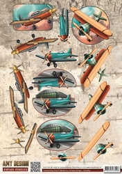 3D Knipvel Amy Design CD10847 Vintage Vehicles Planes