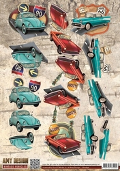 3D Knipvel Amy Design CD10846 Vintage Vehicles Cars/auto