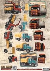 3D Knipvel Amy Design CD10848 Vintage Vehicles Trucks