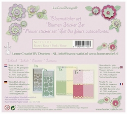 Leane 51.7117 Bloem sticker set roze