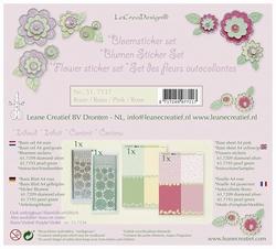Leane 51.7117 Bloem sticker set roze