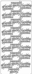 Tekststicker Peel-off 1766 Hartelijk Gefeliciteerd
