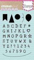 Studio Light Clearstempel sl159 Alfabet & label/vlag/ballon