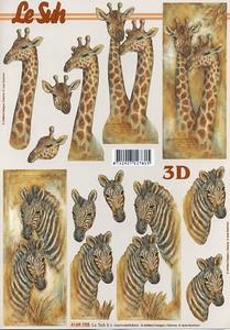 A4 Knipvel Le Suh 4169755 Dieren giraffe/zebra