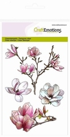 CraftEmotions A6 clearstamps 1249 Spring Time Magnolia