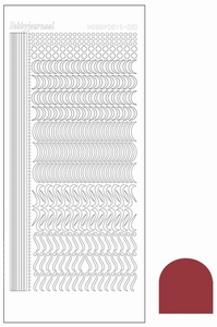 Stickervel Hobbydots Mirror STDM20H Christmas Red