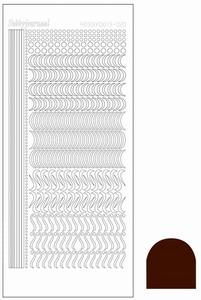 Stickervel Hobbydots Mirror STDM20G Brown
