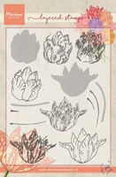MD clear stamps Tiny's layering TC0852 Tulip/tulp
