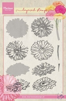 MD clear stamps Tiny's layering TC0853 Gerbera