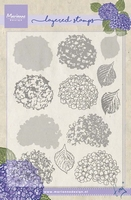 MD clear stamps Tiny's layering TC0854 Hydrangea/hortensia