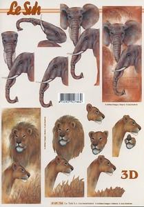 A4 Knipvel Le Suh 4169756 Dieren olifant/leeuw