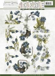 3D Knipvel Precious Marieke CD10858 Fantastic Flowers