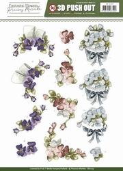 3D Stansvel Precious Marieke SB10157 Fantastic Flowers