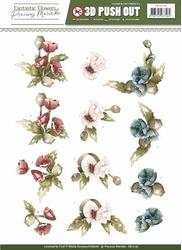 3D Stansvel Precious Marieke SB10156 Fantastic Flowers Poppy